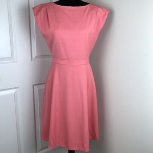 J. Crew pink cap sleeve A-line wool dress